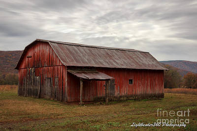 Photograph - Red Barn by Larry McMahon