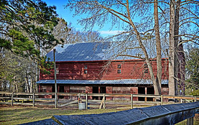 Art Print featuring the photograph Red Barn by Linda Brown