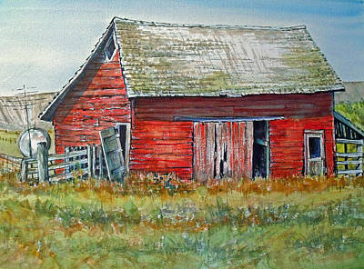 Painting - Red Barn by Lynne Haines