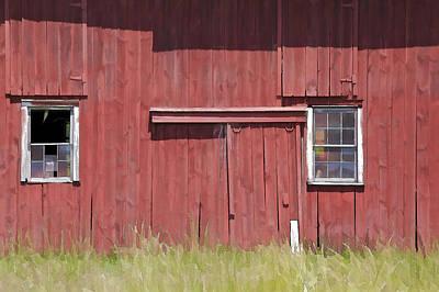 Pop Art - Red Barn of New Jersey II by David Letts