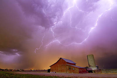 Farms Photograph - Red Barn On A Farm And What A Beautiful Sight by James BO  Insogna