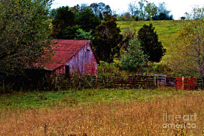 Red Barn One Art Print