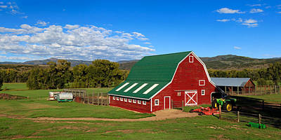 Photograph - Red Barn Panorama 1 by John McArthur