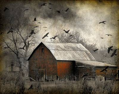 The Old Red Barn Print by Gothicrow Images