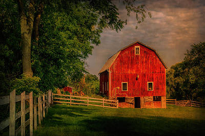 Photograph - Red Barn by Priscilla Burgers