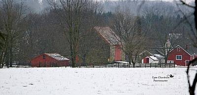 Winter Photograph - Red Barn Series IIi by Lynn Chendorain