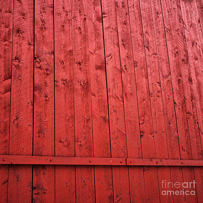 Photograph - Red Barn Square by John Rizzuto