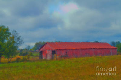 Red Barn Three Art Print
