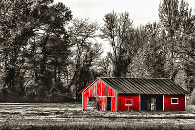 Photograph - Red Barn Too by CarolLMiller Photography