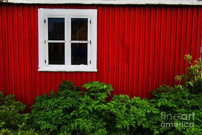 Photograph - Red Barn White Window by Rick Bragan