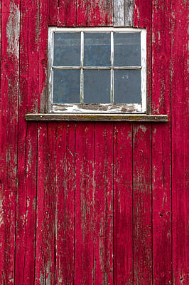 Photograph - Red Barn Window by Teri Virbickis