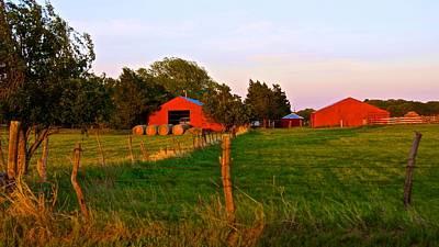 Photograph - Red Barns by Ricardo J Ruiz de Porras