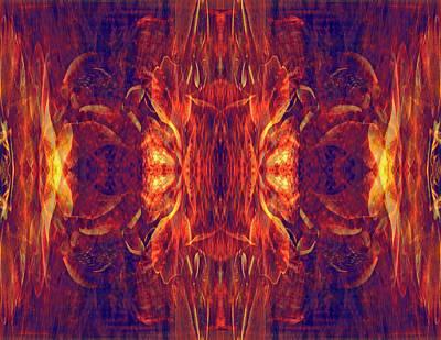 Mixed Media - Red Baroque by Lynda Lehmann