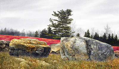 Painting - Red Barrens by Tom Wooldridge