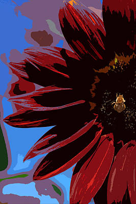 Sunflower Photograph - Red Be There Cut Out by Scott Campbell