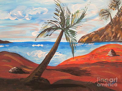 Painting - Red Beach by Judy Via-Wolff