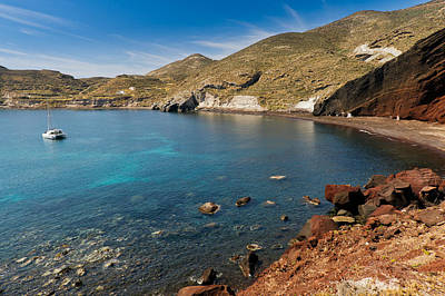 Photograph - Red Beach Santorini by Gary Eason