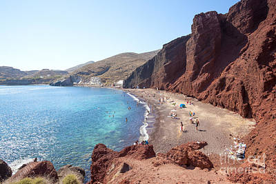 Travel Photograph - Red Beach - Santorini - Greece by Matteo Colombo
