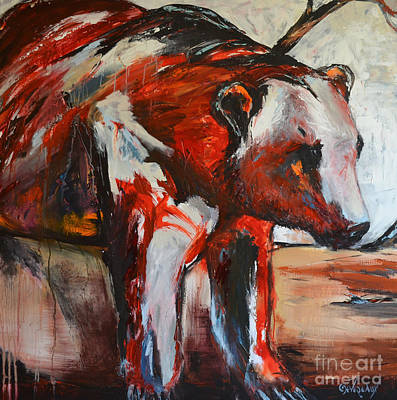 Painting - Red Bear by Cher Devereaux
