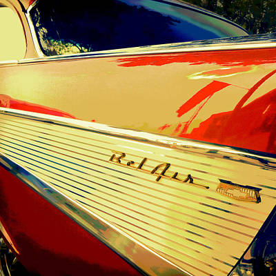 Photograph - Red Bel Air - Classic Car Photo Art by Ann Powell