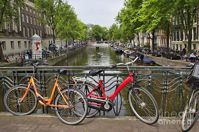 Photograph - Red Bicycle - Amsterdam by Crystal Nederman