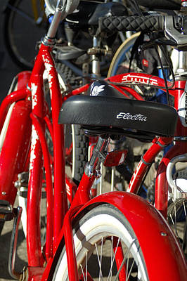 Jerry Sodorff Royalty-Free and Rights-Managed Images - Red Bike 28991 by Jerry Sodorff