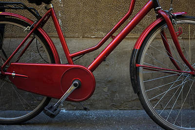 Photograph - Red Bike by Christopher Rees