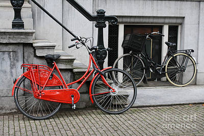 Photograph - Red Bike In Amsterdam by Mary-Lee Sanders