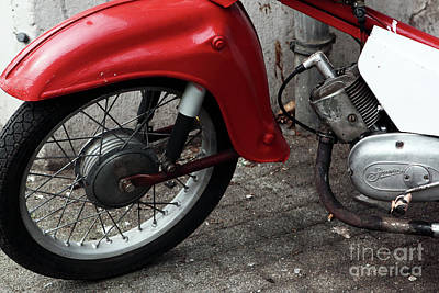 Photograph - Red Bike Part I by John Rizzuto