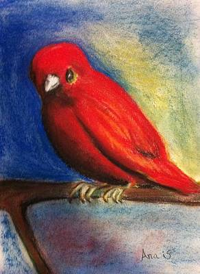 Painting - Red Bird by Anais DelaVega