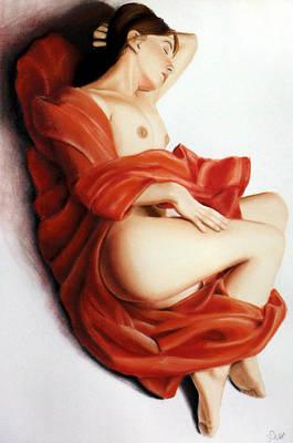 Pastel - Red Blanket by Joseph Ogle