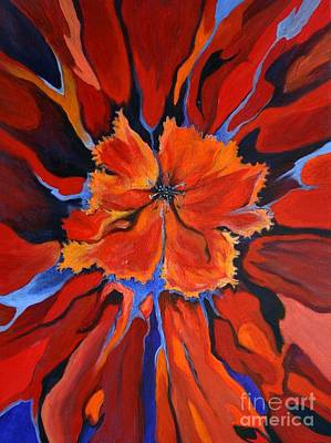 Painting - Red Bloom by Alison Caltrider