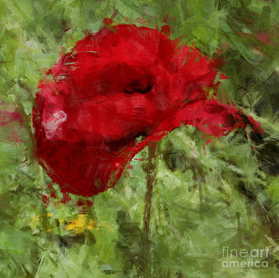 Art Print featuring the photograph Red Bloomers by Julie Lueders