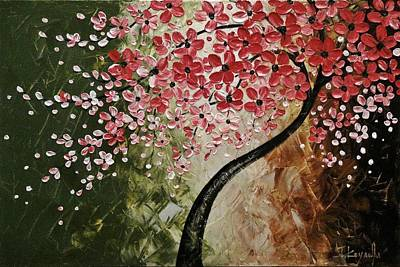 Cherry Blossoms Painting - Red Blossoms  by Tomoko Koyama