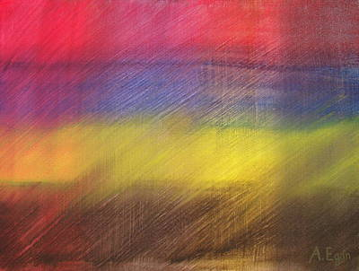 Red Blue Yellow And Brown Original by Annette Egan