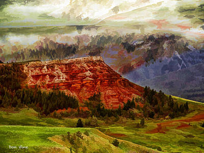 Red Bluff Fantasy Art Print