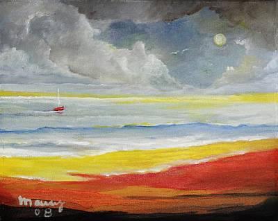 Red Boat,8x10in. Original