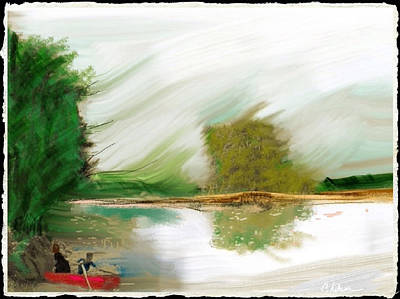 Boa Constrictor Mixed Media - Red Boat by Craig Nelson