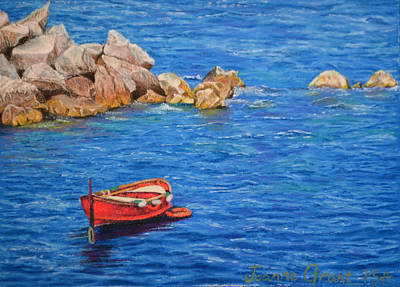 Painting - Red Boat by Joanne Grant