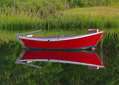 Photograph - Red Boat by Juergen Roth