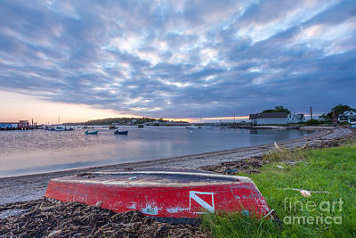 Photograph - Red Boat On Bailey's Island by Susan Cole Kelly