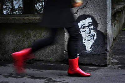 Asphalt Photograph - Red Boots by Dragan M. Babovic