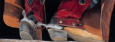 Painting - Red Boots by JK Dooley