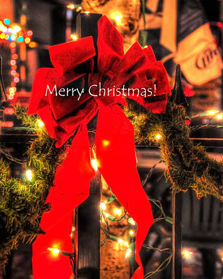 Photograph - Red Bow Christmas 8950 by Jerry Sodorff