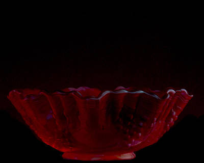 Photograph - Red Bowl by Jack R Perry
