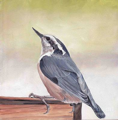 Painting - Red Breasted Nuthatch by Charlotte Yealey
