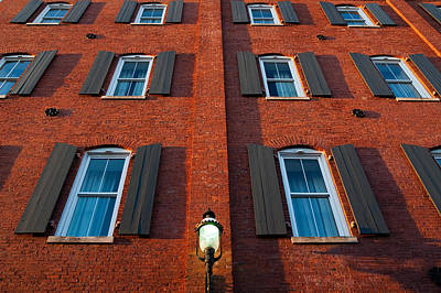 Architecture Photograph - Red Brick And Windows by Rob Huntley