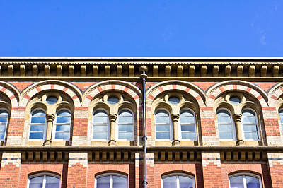 Red Brick Building  Art Print by Tom Gowanlock