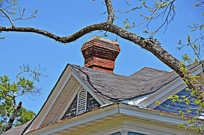 Photograph - Red Brick Chimney by Linda Brown