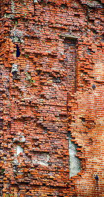 Red Brick Tetris   7d08356 Print by Guy Whiteley